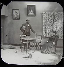 Glass Magic Lantern Slide PADDLE YOUR OWN CANOE NO17 C1890 PHOTO VICTORIAN TALE