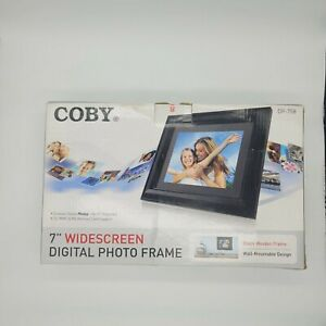 """Coby 7"""" Widescreen 16:9 Digital Photo Frame DP-758 NEW IN BOX QC Passed"""