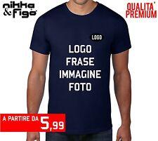 T Shirt Personalizzata o Neutra Maglietta Stampa Logo Grafica Personalizzabile