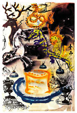 Alices Adventures in Wonderland 11 A2 by Salvador Dali High Quality Canvas Print