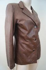 Schegge ROMA FIRENZE femme marron chocolat veste en cuir Sz: M