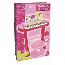 Bontempi 13 3671 I- Organo elettronico Bambina con Gambe/microfono e Sgabello