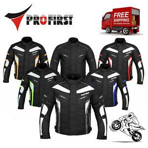 Men Motorcycle Racing Waterproof Cordura Textile Jacket Motorbike Riding Armored