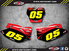Honda CRF 450 2008 Custom number Plates DIGGER STYLE / stickers decals