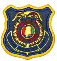 FAIRFIELD ALABAMA AL Sheriff Police Patch STATE SEAL VINTAGE OLD MESH USED ~