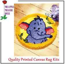 Elephant printed Latch Hook Rug Kit - Rug Making - Everything included