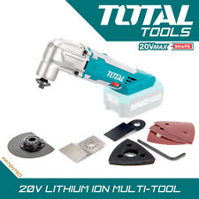 Total Tools 20v Li-ion Cordless Multi-Tool 6Pc Set Lightweight Design Body Only