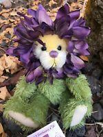 DILLY DAHLIA Artist Mohair Teddy Bears Virginia Jasmer Jazzbears Floral Vintage