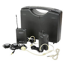 Up2 Portable UHF Wireless System 2 Channel Pocket Trans/rec Headset for Busker