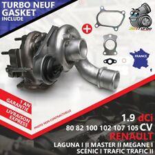 Turbo NEUF RENAULT TRAFIC II Autocar 1.9 dCI 80 - 82 Cv 751768 AVEC JOINTS GASKE
