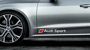 2 x Audi Sport Stickers for Doors A1 A3 A4 A5 A6 S3 TT Q2 Q3 Q5 S3 S4 RS