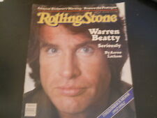 Warren Beatty, James Brown - Rolling Stone Magazine 1982