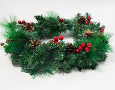 CHRISTMAS DOOR WREATH 35CM WITH CONES AND BERRIES XMAS DOOR WALL DECORATION