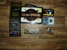 GAME OF THRONES LUNCHBOX MANY COMIC CON 2014 EXTRAS COMPASS NECKLACE RARE TSHIRT