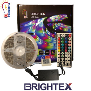 LED STRIP LIGHT,RGB COLOR CHANGING LIGHTS For In/Outdoor use Music Bluetooth 5M