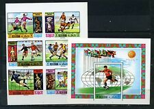 RAS AL KHAIMA 1970 FOOTBALL COUPE DU MONDE MEXICO LOT DE 6 Timbres & S/S