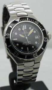 Vintage Omega Pre Bond Black Swiss Rotating Bezel Quartz Watch