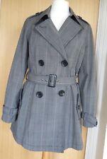 Hobbs Trench Coat Jacket 12 Prince of Wales Mac Short Spring Work Office Career