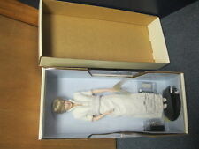 Franklin Mint Princess Diana Porcelain Doll In White Dress NEW COA