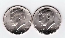 2017P-D Kennedy Half Dollars. Two coins right from the roll.