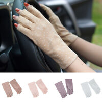 Summer Anti-UV Sun Protection Ultra-Thin Gloves Half Finger Driving