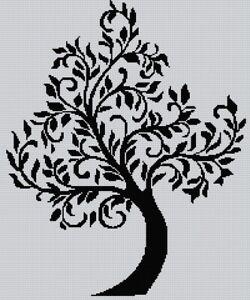 Blackwork Tree #2 Cross Stitch Chart