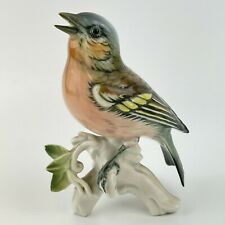 More details for vintage karl ens porcelain figure of a bird blue green yellow and red 12.8cm