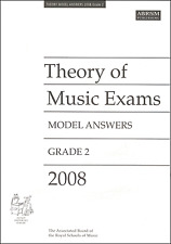 ABRSM Past Theory Of Music Exam Paper 2008 Grade 2 Model Answers Sheet Music