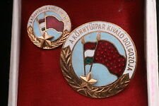 Hungary Hungarian 1960s Badge Excellent Perfect Worker Light Industry box medal