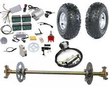 """29"""" Go Kart Rear Axle kit 6"""" Wheels 48V 1800w Brushless Electric Motor Golf Cart"""