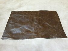 """Brown Vintage Aged 100% Italian leather 12""""x8"""" offcut 1.1mm Craft patch repair"""