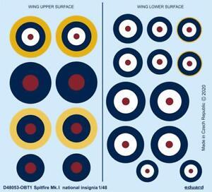 Eduard Decals D48053 1/48 Supermarine Spitfire Mk.I national insignia