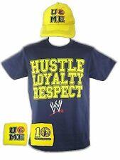 John Cena Mens HLR Blue Yellow Costume Hat T-shirt Wristbands