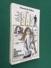 SAS n.49 IL GIOCO DEI POTENTI ill. Crepax (1988) Libro Gerard DE VILLIERS