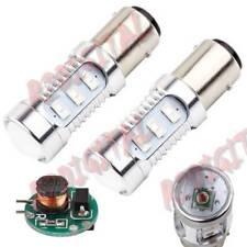 COPPIA LAMPADE LED T25 P21/5W BAY15D FRENO STOP DRL DIURNE 6000K BIANCO ICE SMD