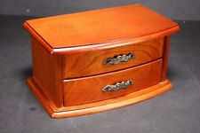 Wooden Jewellery Box with single drawer & Interior Mirror