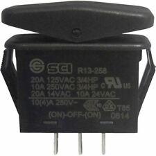 SCI R13-258I Toggle Switch 14V DC 21A 1x (On)/Off/(On) Black IP66 Mom/0/Mom