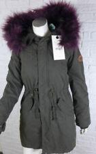 Winter-Damenjacken & -mäntel aus Baumwollmischung mit Druckknöpfen