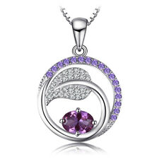 JewelryPalace 1.44ct Created Alexandrite Sapphire,Purple Cubic Zirconia Pendant