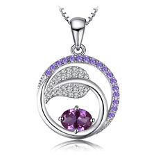 JewelryPalace1.4ct Erstellt Alexandrit Sapphire Lila Zirkonia Anhänger Halskette