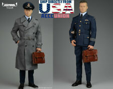 1/6 Allied Brad Pitt Pilot Suit Coat Set WWII Military For Hot Toys Figure USA