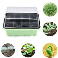 12Cell Plant Seed Grow Box Nursery Seedling Starter Garden Yard Tray Plastic Kit
