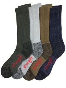 Wrangler Men's Ultra-Dri Work Boot Socks - Pack of 4 Riggs