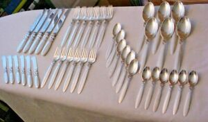 41 Piece Service for 6 Sterling Georg Jensen CACTUS  Minus 1 Knife