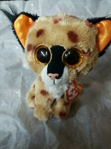 "Ty Beanie Boos Buckwheat the Lynx 6"" with tags attached"