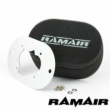 RAMAIR Carb Air Filters With Baseplate Weber 32/34 DMTL 65mm Bolt On
