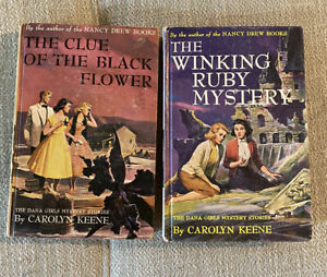 Vintage The Dana Girls Mystery Stories Carolyn Keene Nancy Drew Books Lot Of 2
