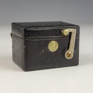 Antique Jones Harvey Succs Of Paris - Tooled Leather Pocket Travel Inkwell