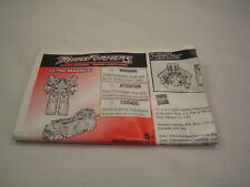 Transformers RID Ultra Magnus  Instructions Booklet Only  Untorn
