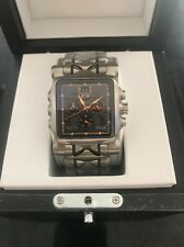 NEW!!! Oakley Minute Machine 10-299 titanium with black face and yellow dial.